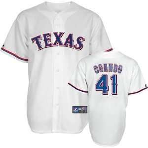 Alexi Ogando Jersey: Adult Home White Replica #41 Texas