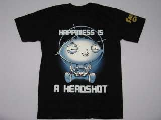 FAMILY GUY STEWIE Headshot Gamer Mens T Shirt Size S