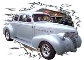 You are bidding on 1 1939 Blue Chevy Coupe Custom Hot Rod Garage T