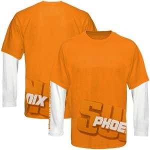 Orange Two Fold Double Layer Long Sleeve T Shirt