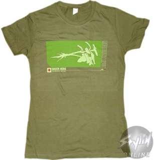 Resident Evil 4 Green Herb Girls Baby Doll T Shirt M