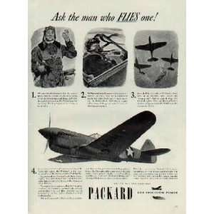 Curtiss P 40F Warhawk   Ask the man who FLIES one! .. 1942 Packard