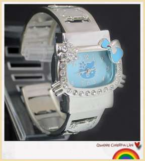 Lovely Hellokitty Girls Lady Child Quartz Crystal Bracelet Wrist Watch