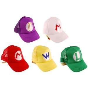 Super Mario Bros Trucker Hat Set Of 5 Toys & Games
