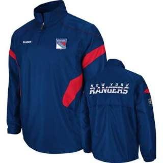 New York Rangers Navy Reebok Center Ice 1/4 Zip Hot Jacket sz XXL 2XL