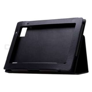 Acer Iconia Tab A500 Black Leather Case Cover Stand