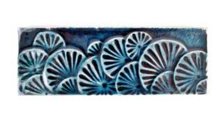 Antique American Art Pottery Tile J & J G Low BLUE Wow