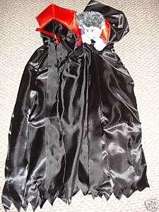 HALLOWEEN COSTUME DRACULAR CAPE & HEAD LILLIAN VERNON