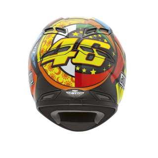AGV GPTech Gp Tech Elements Motorcycle Helmet Valentino Rossi 46  XS
