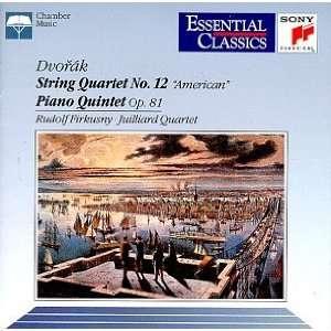 Piano Quintet Op 81 Dvorak, Firkusny, Juilliard String Quartet Music