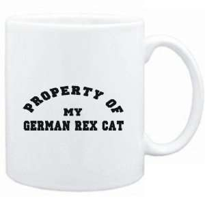 Mug White  PROPERTY OF MY German Rex  Cats  Sports