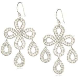Anna Beck Designs Timor Flower Chandelier Sterling Silver Earrings