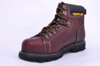 MENS CAT CATERPILLAR ALASKA FX TAN BROWN STEEL TOE WORK BOOTS SIZE 10