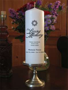 Personalized In Loving Memory Memorial Vigil Candle