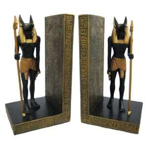 Pair Of Egyptian Jackal God Anubis Bookends Book Ends