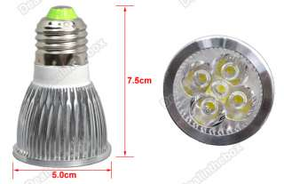 5W E27 High Power Focus 5 LED Cold White pot Lamp Light Bulb 85~265V