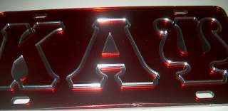 KAPPA ALPHA PSI MIRROR LICENSE TAG RED B/G WITH RED LTR