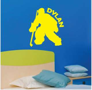 Goalie Hockey Personalized Vinyl Wall Lettering Decal