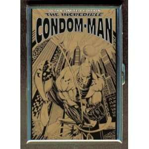 CONDOM MAN COMIC BOOK HERO ID Holder, Cigarette Case or Wallet MADE