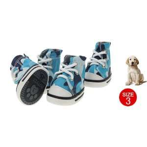 Como Cute Blue Army Camouflage Pet Dog Protective Boot