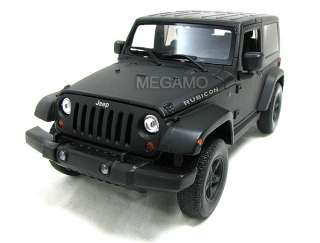 24 Cool Matt Black Jeep Wrangler Rubicon Welly