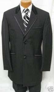 New Mens Andrew Fezza 2 Button Wool Tuxedo Jacket 50S