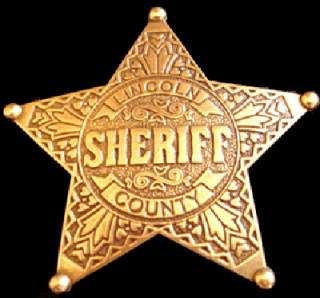 OUTLAW BILLY THE KID WILD WEST WESTERN SHERIFF BADGE