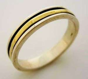 delicate spinner ring silver 9 ct gold wedding engagement bague anillo