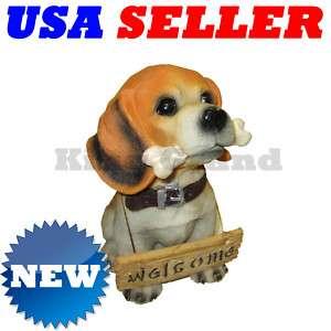NEW Brittany Puppy Dog w/Bone Statue Coin Money Bank
