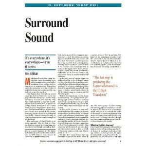 Surround Sound: Dr. Dobbs Journals How To Series [Download: PDF