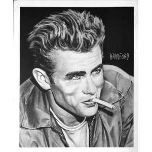 James Dean 3 Charcoal Portrait