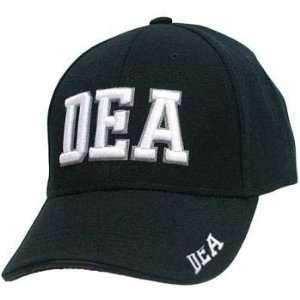 BLACK DEA DRUG LAW ENFORCEMENT BASEBALL CAP POLICE ADJ