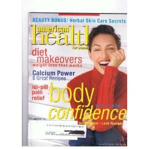 American Health for Women Magazine Oct. 1998 Body Confidence, Diet