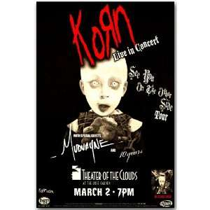 Korn Poster   Concert Flyer   See You on the Other Side Tour