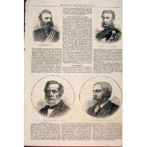 Portrait Captain Nicol Huyshe Twells Gordon Mp 1874:  Home