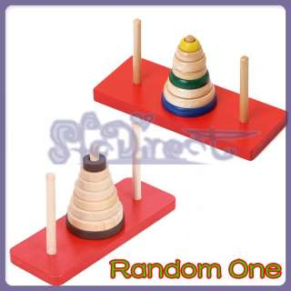 PUZZLE Toy IQ game The Tower of Hanoi Brain Teaser 8 Rings