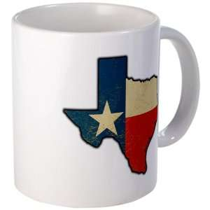 Mug (Coffee Drink Cup) Texas Flag Texas Shaped: Everything Else