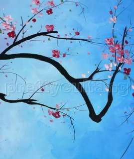 Large Art Contemporary Flowers Tree Landscape Handmade Oil Paintings