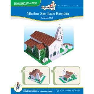 California Mission San Juan Bautista 10 x 13 Paper Model (California