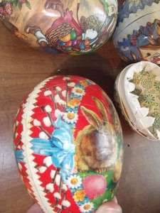 paper mache cardboard nesting easter eggs Germany Arts Crafts
