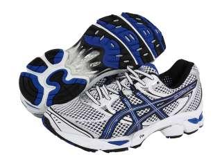 SALE ASICS Mens GEL Cumulus 12 Running Shoe White/Royal/Black sizes