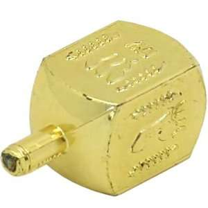 Hanukkah Dreidels for Childrens. Plastic Gold Colored Traditional