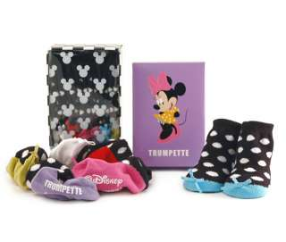 Trumpette Disney Minnie Mouse 6 Pairs Baby Socks New