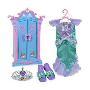 Princess Cinderella Armoire with Ariel Dress Up Set Toys & Games