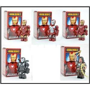 Medicom Marvel Iron Man 2 Kubrick Set of 5 Toys & Games