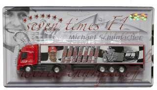 MODEL Formula One 1 F1 Michael Schumacher Ferrari Truck NEW