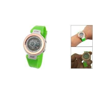 Como Cold Light LCD Display Green Band Wristwatch Sports
