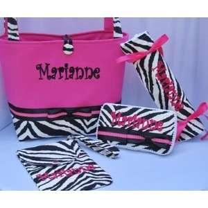 Posh Pink Zebra Diaper Bag Baby