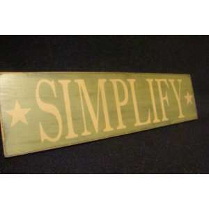 Rustic SIMPLIFY sign decoration beach house cabin Everything Else
