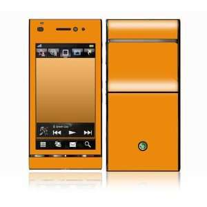 Simply Orange Design Decorative Skin Cover Decal Sticker for Sony